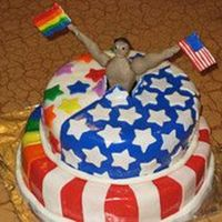 4Th Of July/pride   Atlanta Pride week coincided with 4th of July this year, so I had an order for a combo cake for a party.
