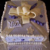 Present Cake   buttercream birthday cake. fondant accents.