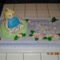 Baby Shower Cake   made to match the napkins