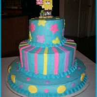 Spongebob Birthday Cake My daughter had to have a Spongebob cake for her 6th birthday :-) My colors were a little off, but for my first try at a stacked cake it...