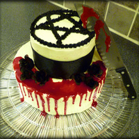 "Heartagram Cake I made this ""Killing Loneliness"" cake for a contest by the finnish band H.I.M."