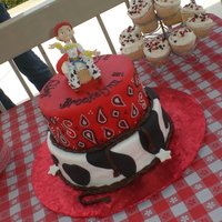 Cowgirl Jessie Birthday Cake I made this cake for a dear friend's daughter's 3rd birthday. She loves Jessie! bottom tier is lemon cake with raspberry filling...