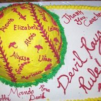 Spring Softball Party Cake