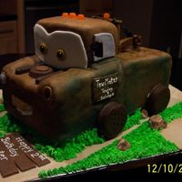 3D Tow Mater Cake 3D Tow Mater birthday cake made for a little boy who turned 2. Great learning experience; a big thank you to cr8zchpr for all her help and...