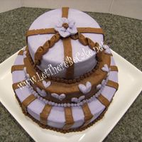 Purple And Brown Mini 3 a surprize cake for a co worker