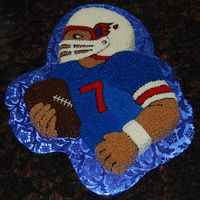Xlii It was convenient that both teams had the same colors this year since I had to make a neutral cake. This guy could play for either team.