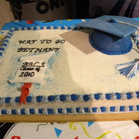 Graduatin Cake Chocolate cake b- cream and fondant decoration