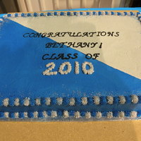 Graduation Cake Chocolate cake butter cream icing