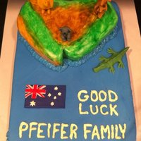 Moving To Australia Made this for a going away party for friends that were moving from the USA to Australia for 12 months.