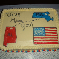 Military Relocation Cake Made this for a going away party for some friends who were in the military (army) and being relocated. Frosting and images done in...