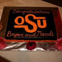Oklahoma State Groom's Cake Vintage Oklahoma State logo for my brother's groom's cake- two 9 x 13 sheets together, all BC. Logo done in FBCT.