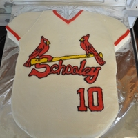 St. Louis Cardinals Groom's Cake Two 9 x 13 chocolate stout cakes, plus the sleeves. Iced and decorated in BC. I had a nice FBCT originally. I didn't freeze it long...