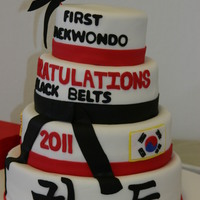 Black Belt Congrats Cake