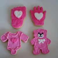 Pretty In Pink sugar cookies with royal icing and sanding sugars