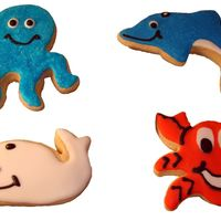 Under The Sea Ocean animals on sugar cookies with RI