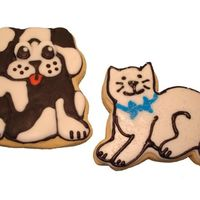 Man's Best Friend And A Cat Sugar cookies with RI