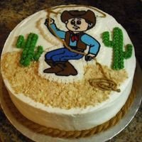 Howdy Cowboy Frozen Buttercream Transfer, all buttercreamI was putting off trying this technique because I thought the FBCT would be difficult but it...