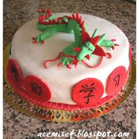 Dragon Cake I made this cake for my chinese language course friends. If you want to see how to make details please visit my website:acemisef.blogspot....