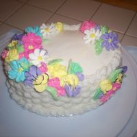 Easter Cake buttercream and royal icing flowers