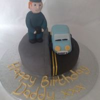 Traffic Warden Cake my friend requested this cake for her boyfriend, he is a traffic warden so thats what she wanted on his cake! chocolate cake with chocolate...