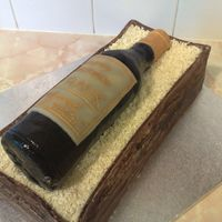 Wine Bottle Cake here is my version of the wine bottle cake. thanks to everyone who has made it before me and been an inspiration. the box part of the cake...