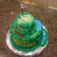 Dad's Golf Cake My dad loves golf, so I made a little golf cake for his 59th birthday.