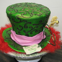 Mad Hatter Hat   A sweet 16 birthday cake.