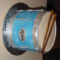 Drum Cake Buttercream with fondant accents.
