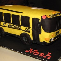 School Bus Buttercream with fondant accents. Inspired by all the other bus cakes on this site!