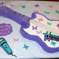 Hannah Montana 7Th B-Day This cake was done for my niece as a surprise. She is a total Hannah fan and her mom took the cake to her school and surprised her in class...