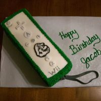 Wii Remote W/skinz This cake was done for a little boy who is totally nuts about the wii gameing system and mario. Chocolate cake w/vanilla buttercream &...
