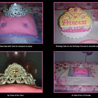 Pillow And Tiara The Pillow was a Chocolate cake with raspberry and buttercream filling and covered in MMF. The Princess cake is the same as the Pillow,...