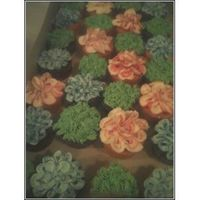 Flower Cupcakes saw these online somewhere and had to try it!!!!!!!So easy!!