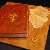 Lord Of The Rings Birthday Cake This was a combined birthday cake for my brother and going away cake for my sister-in-law. Lord of the rings theme with a map of Great...