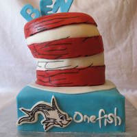 Dr. Seuss Birthday Cake Recently made this Dr. Seuss Birthday Cake for a little boy's first Birthday Party! Always wanted to do a Dr. Seuss Birthday Cake so...