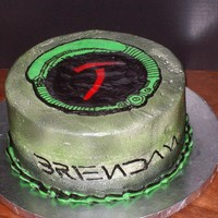 Avp Cake buttercream with FBCT and airbrushed finish. Birthday cake for a fan.