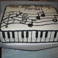 Musical Birthday Ii I made this for someone who liked my brother-in-law's musical birthday cake, but wanted something alittle different. It is 2 layers,...