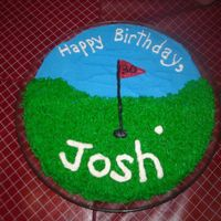Golf Birthday  This was for my husband's 31st birthday. The flag says '30' because he was not so excited about turning 31! It is a cookie...