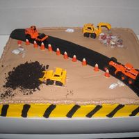 Construction Theme Birthday This was my mom's birthday cake. I know it looks more like a little boy's cake. She works for the state DOTD, and was currently...