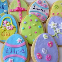 Easter Cookies These cookies were made for my nieces and nephews for Easter. They are all sugar cookies with fondant decorations.