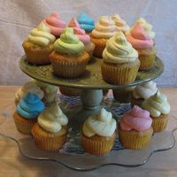 Spring Cupcakes It's time to RING IN SPRING with some colorful cupcakes!!Vanilla Cupcakes with Vanilla Buttercream (Blue & Green), Lemon...