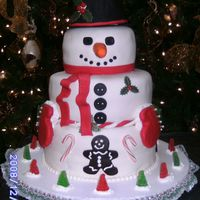 Snowman Cake My daughter and I made this cake for her office - inspiration from a very similar cake here on CC. Bottom tier was marble cake, middle tier...