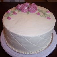 Love My Mommy! This is a spice cake with cream cheese frosting. This is the first time I have used the viva method and the diamond mat. I hope my mommy...
