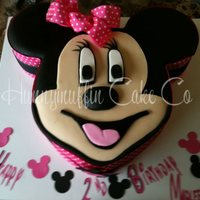 Minni Mouse Cake   MMF and gumpaste accents with real ribbon bow. White W/ buttercreme.