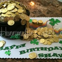 Pot Of Gold Cake   Chocolate cake with choc buttercreme with MMF