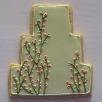 Wedding Cake Cookie These cookies were made last year as wedding shower favors. It was designed to match the bride and groom's wedding invitations. I wish...