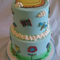 Garden Birthday Cake This cake was made last year for my niece's 6th birthday and was inspired by a wonderful cake design from frostingwithflair.com. All...
