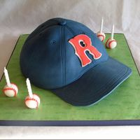 "Boston Red Sox Baseball Hat  This was made for my nephew's birthday. He wanted a Boston Red Sox hat with an ""R"" for Ryan on it instead of the traditional..."