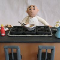 Chef's Birthday This was made for a client who needed a cake to celebrate her husband's birthday and the opening of his new cooking school. It was a...