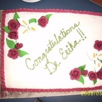 E Grad Cake my neices graduation cake,,,our first doctor..lol